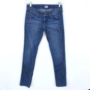 HUDSON Mid Rise wash Skinny Jeans